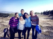 Eli (Israel), Zoe, Deborah, Maya, and Esty (US) after a hike, source: Shana Zionts